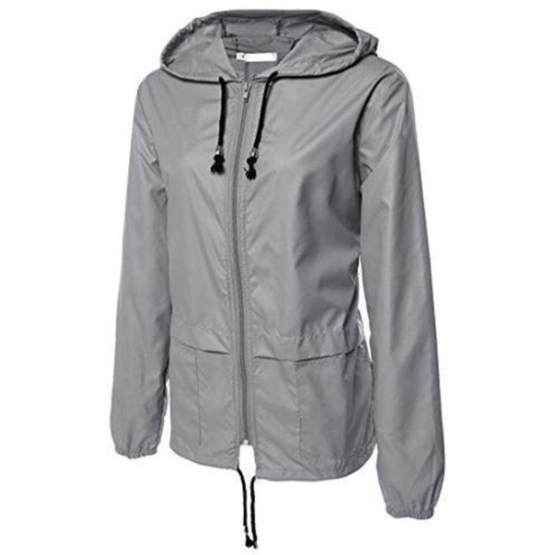 Womens Rain Waterproof Jacket Ladies Hiking