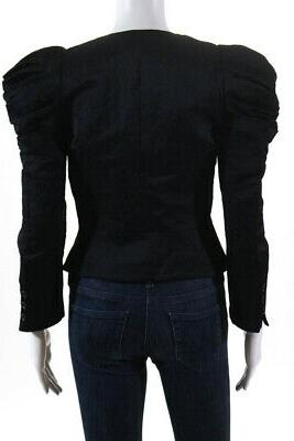 Elizabeth and Ruched Sleeves Jacket Cotton Size