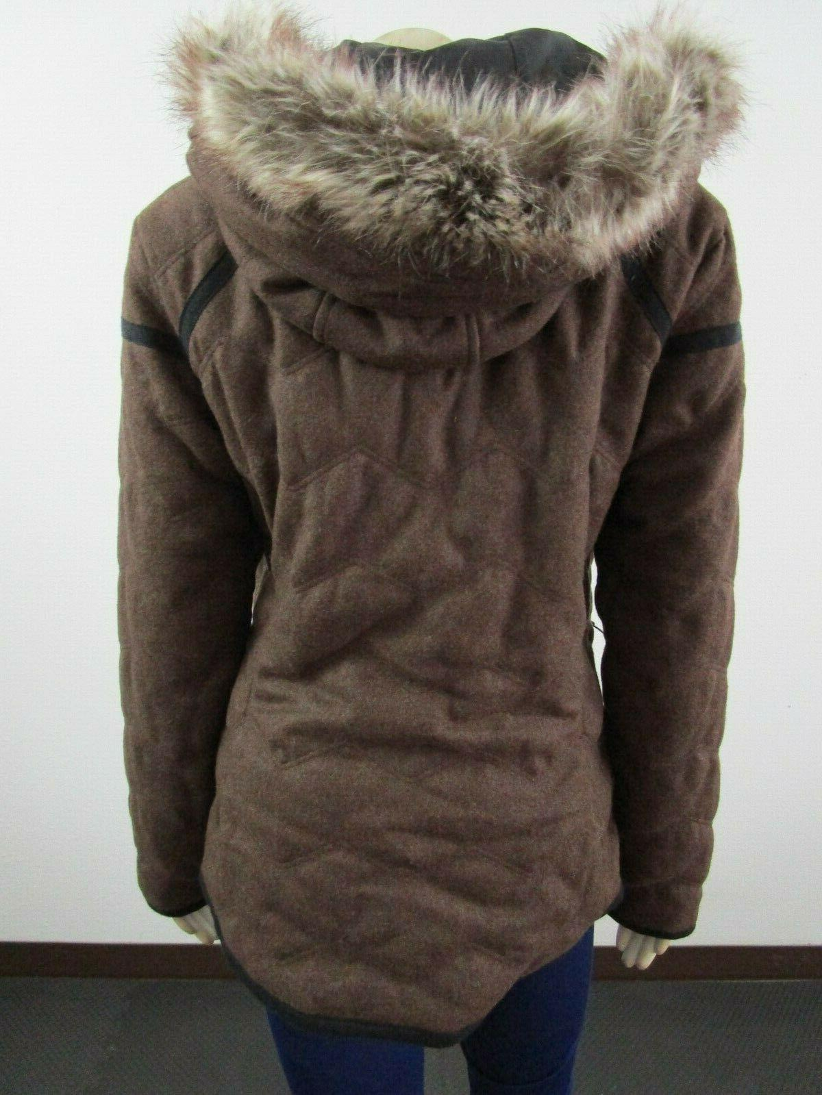 Womens S-L Insulated Hooded Faux