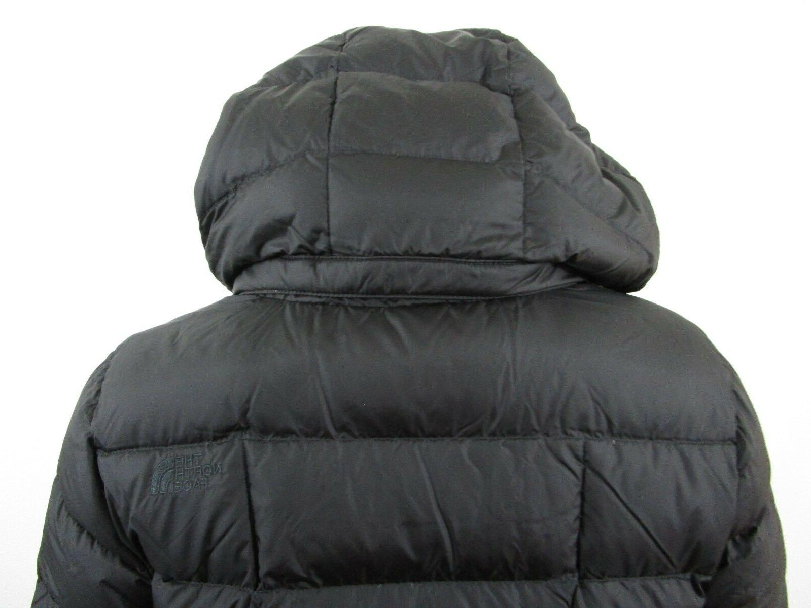 Womens The North Face Long Down Parka Jacket Black