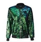 Womens Sequins Short Coats Jackets Baseball Blazer DJ 6Color