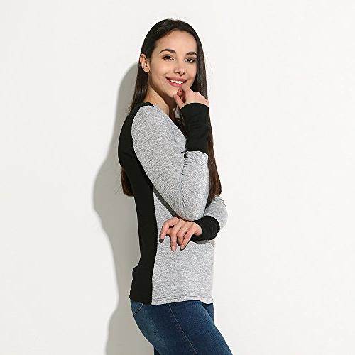 iHHAPY Neck Fight Long Sleeve Jumper Blouse