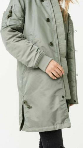Lined Parka coat Abercrombie & Fitch size