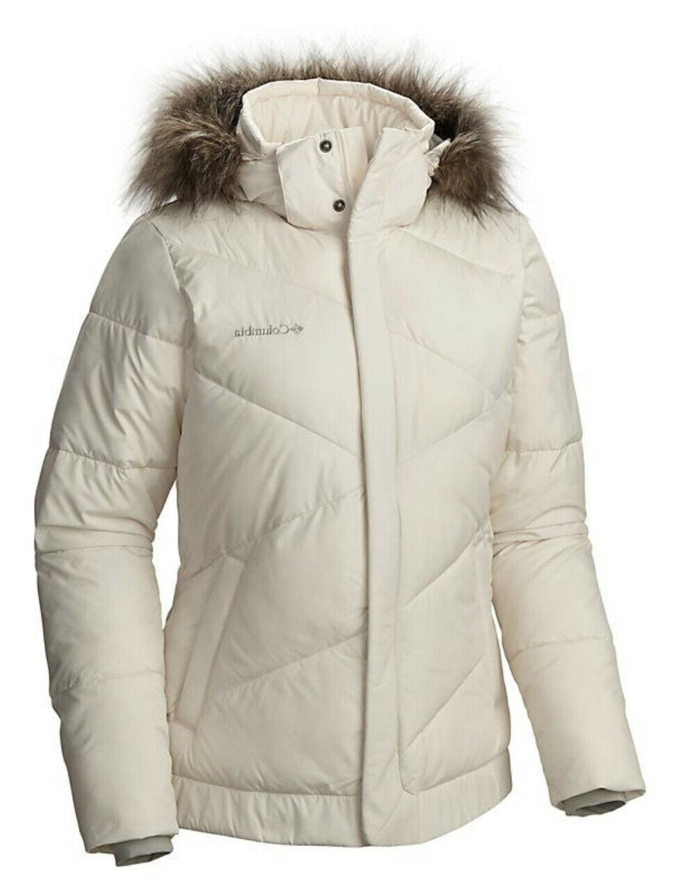 womens snow eclipse winter jacket chalk size