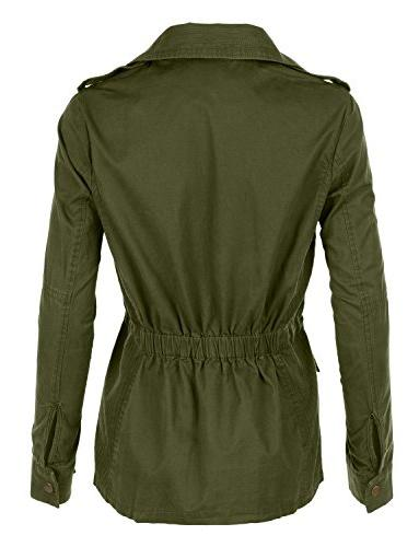 LE3NO Stand Safari Anorak with Pockets