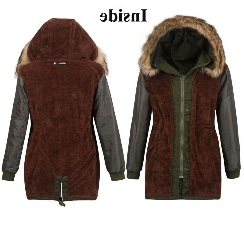 Womens Fur Hooded Outwear