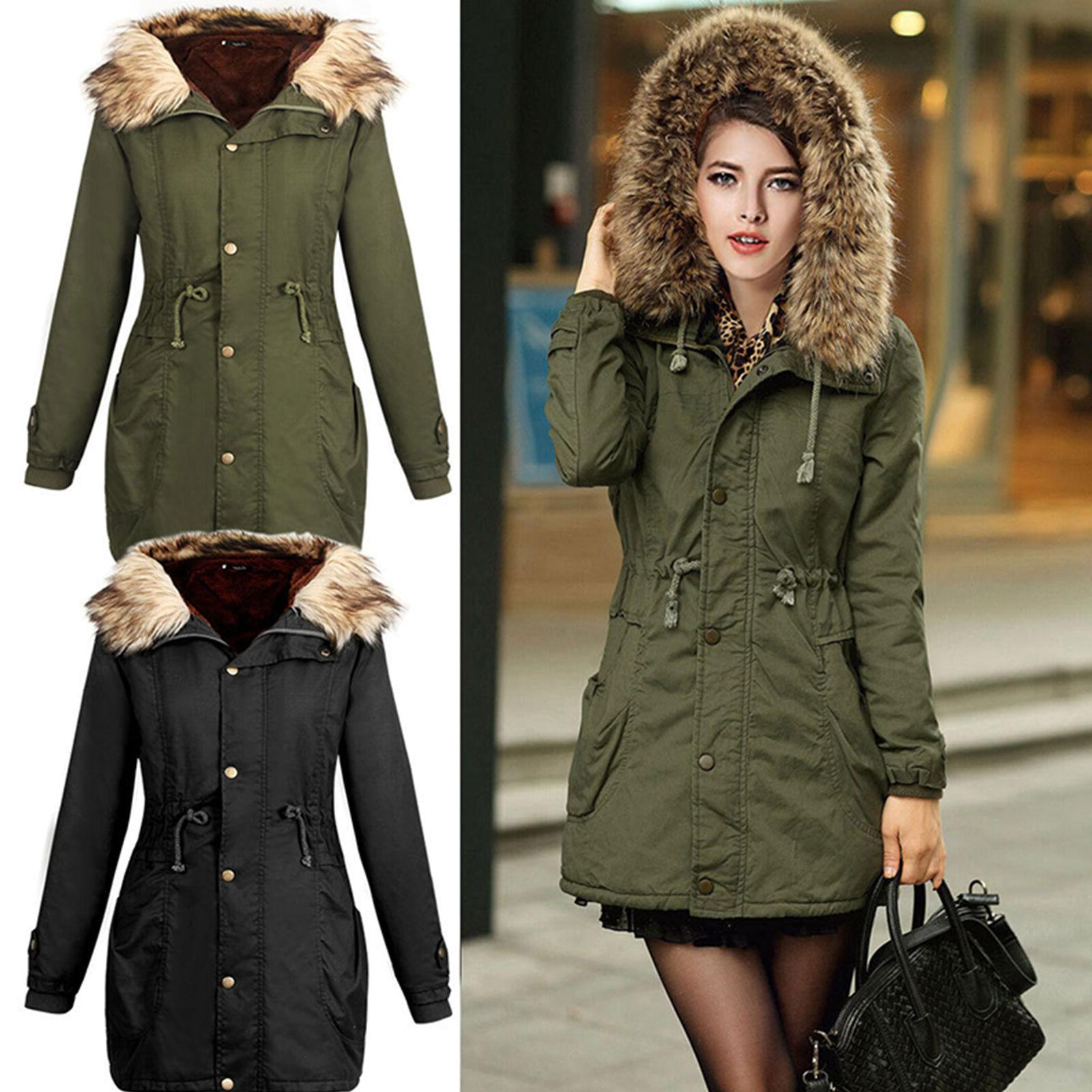 women s thicken warm fur collar hoodie
