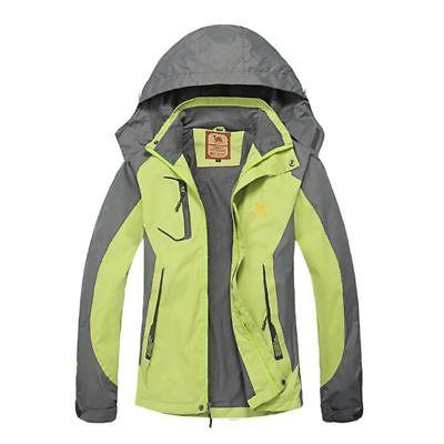 Womens Waterproof Hiking Coat Sport Hoodie Raincoat