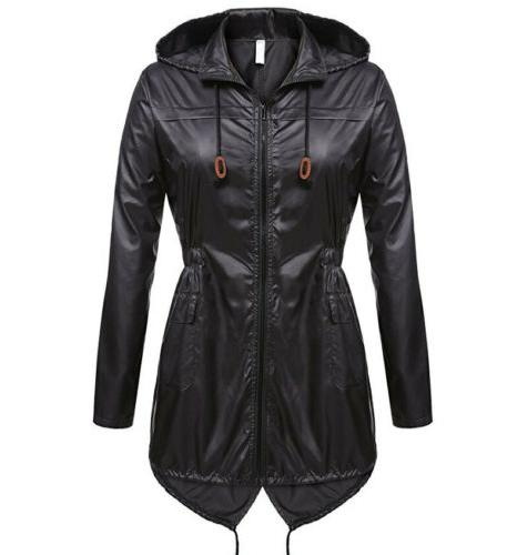 Womens Jacket Fishtail Ladies Hoodies Winter Hooded Raincoat