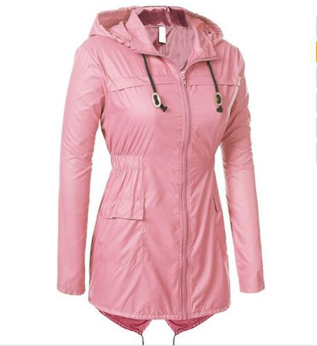 Womens Fishtail Ladies Hoodies Winter Hooded Raincoat