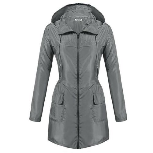 Womens Coat Slim Long For Outdoor Rain