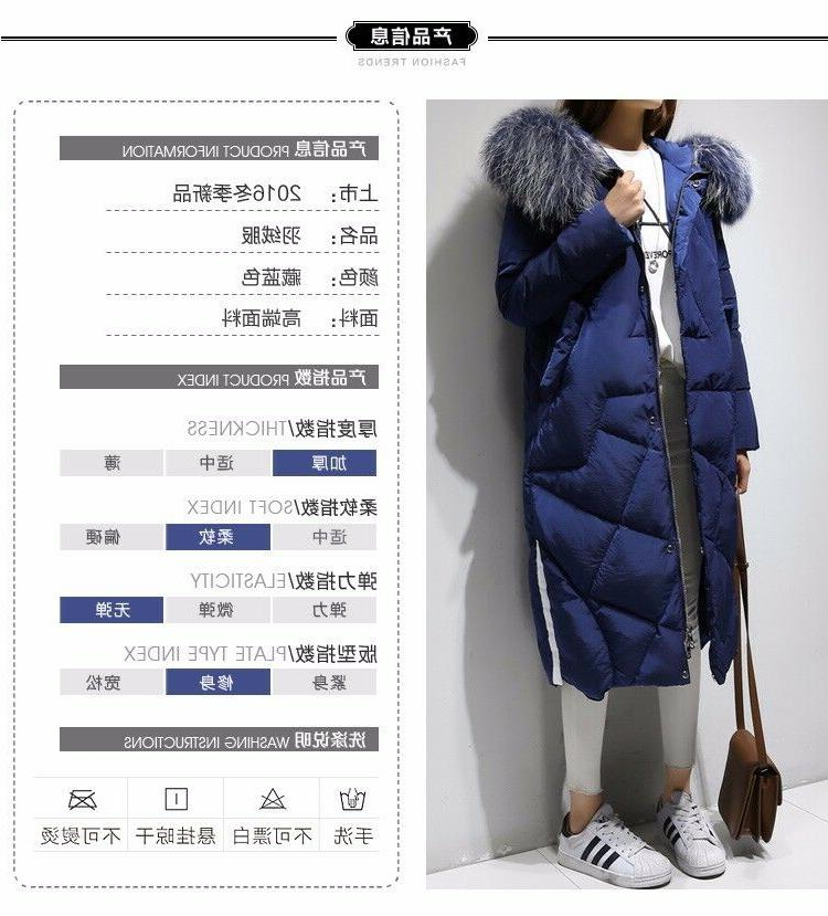 Womens Down Long Jacket Thick