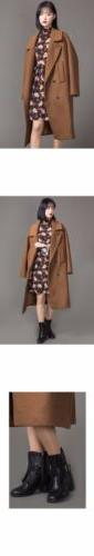 Womens Winter Warm Wool Lapel Long Coat Trench Parka Jacket