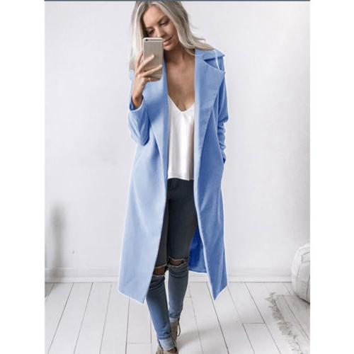 Womens Winter Lapel Long Parka Jacket USA