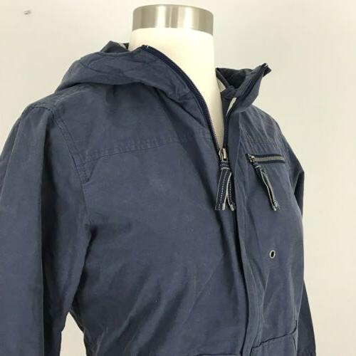 Columbia womens XS Cotton spring Jacket Hood Blue