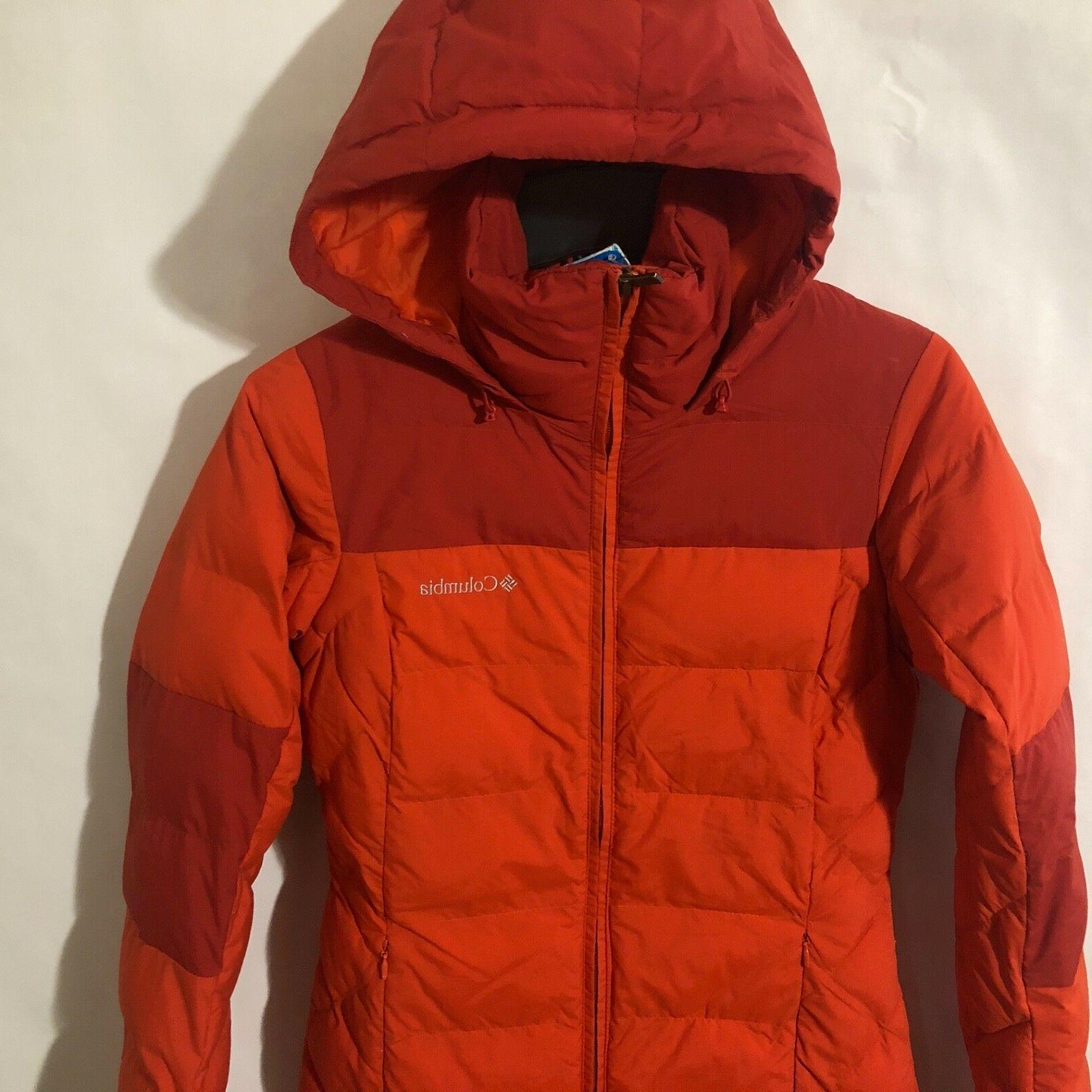 Columbia Womens Fighter Mid Hooded Pepper/Red
