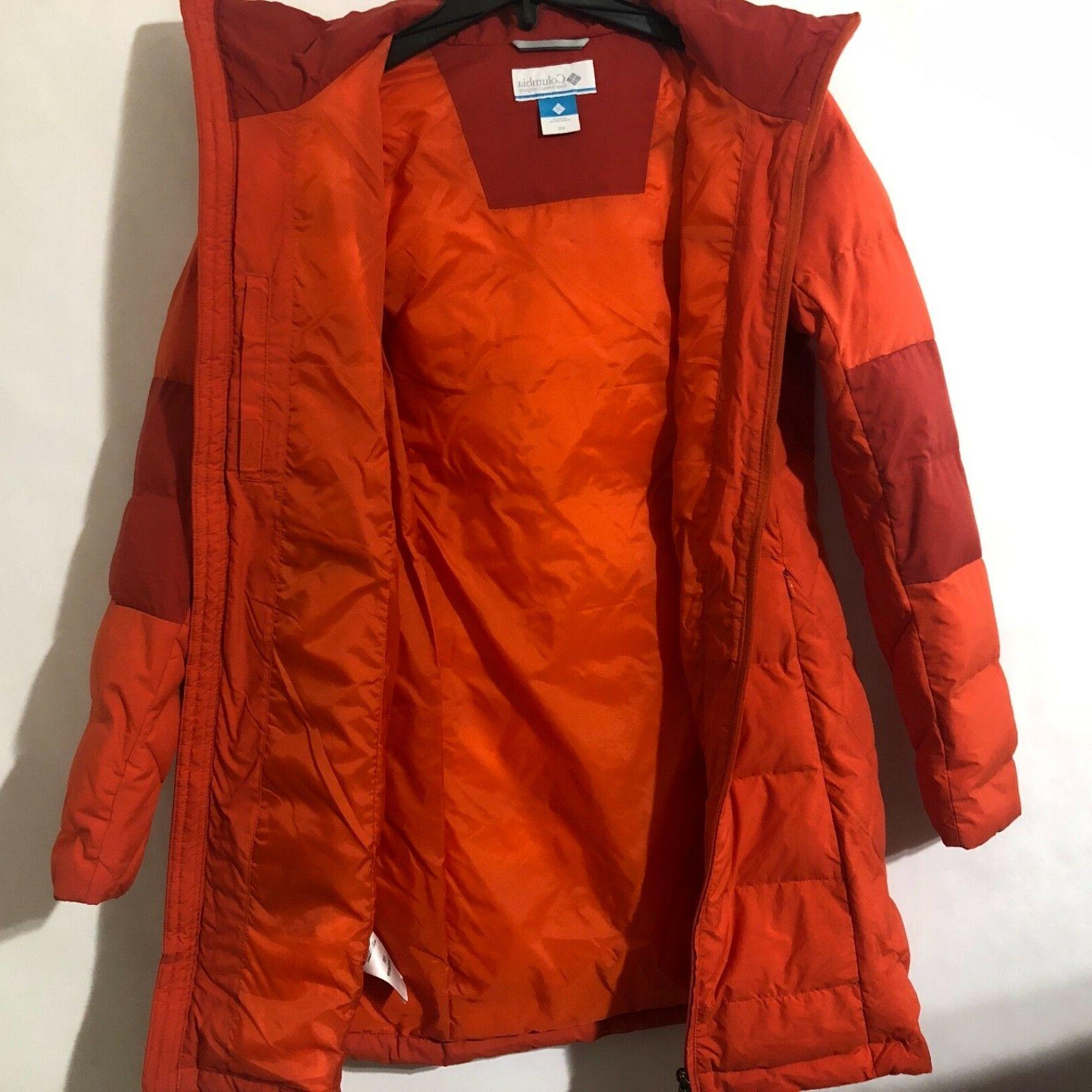 Columbia Womens Cold Fighter Length Hooded Hot Pepper/Red