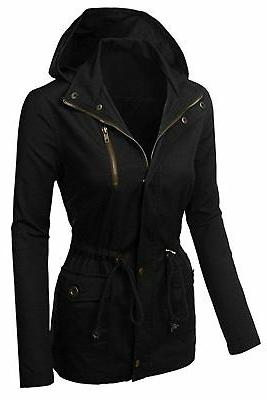 FASHION BOOMY Womens Zip Up Jacket Medium