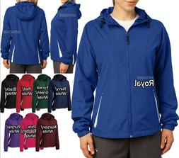 Ladies Plus Size Jacket with Hood 2 Tone Water Repellent Wom