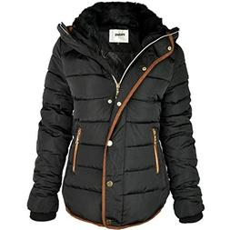 Prime Ladies Puffer Jacket Quilted Padded Warm Thick Womens