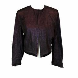 Leather Jacket Women's Large Venus Williams Purple NWT 40061