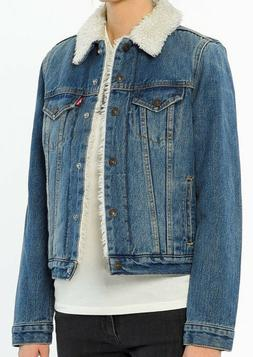 Levis Sherpa Womens Trucker Jacket # 283440001 Levi's Denim
