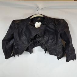 ll womens quilted biker jacket xs black