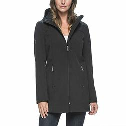 Andrew Marc Ladies Long Softshell Jacket - Medium - Black