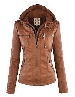 mbj wjc663 womens removable hoodie motorcyle jacket