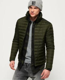 Mens Superdry Fuji Double Zip Jacket Olive