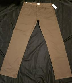MENS SIZE 34X32 ***DOCKERS 5-POCKET BROWN JEANS*** STRETCH**