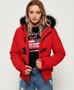 Superdry Womens Microfibre Toggle Puffer Jacket