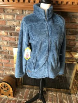 New Free Country Alpine Butter Pile Blue Jacket Size Medium