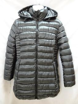 NEW Apt 9 womens Cold Weather Quilted Lightweight Pewter Hoo