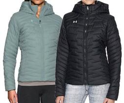 NEW UNDER ARMOUR COLDGEAR REACTOR HOODED JACKET Black/Opal P