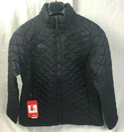 NEW NORTH FACE THERMOBALL JACKET WOMEN BLACK MATTE LARGE INS