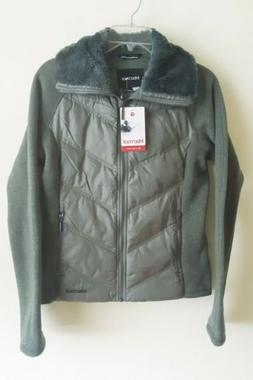 NEW Marmot Thea Down Jacket Knit Sleeves Womens Small Zip Up