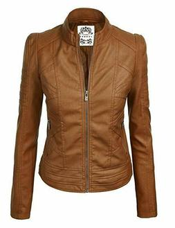 new wjc746 vegan leather womens motorcycle jacket