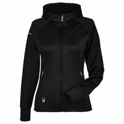 New Spyder Women's Full Zip Hoodie Hoodied Shirt Jacket Top