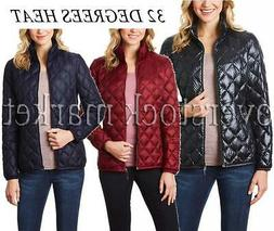NEW WOMEN'S 32 DEGREES HEAT QUILTED PACKABLE DOWN JACKET! 65