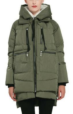 NEW - OROLAY Women's 'YRF092' Green THICKENED DOWN JACKET -