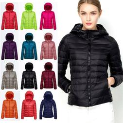NEW Womens 90% Duck Goose Down Light Winter Jacket Warm Puff