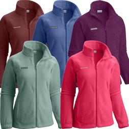 "New Womens Columbia ""Benton Springs"" Full Zip Fleece Jacket"