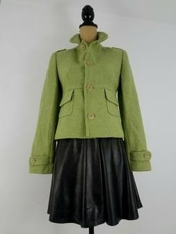 New Banana Republic Womens Jacket Blazer XS Lime Green Wool