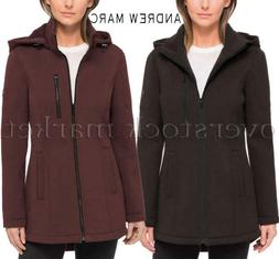 NEW WOMENS ANDREW MARC KNIT JACKET! SOFT & COZY! DETACHABLE
