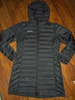 New Womens Columbia Lake 22 Long Hooded Heat Seal 650-Fill D