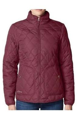 New!! Eddie Bauer Womens Mod Quilt Jacket Large/Dark Berry
