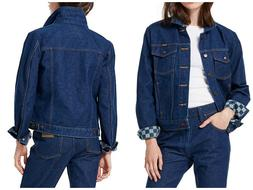 NEW WRANGLER X VANS  WOMAN DENIM JACKET BOYFRIEND DARK INDIG