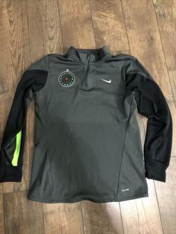 Nike Dry Fit Portland Thorns Quarter Zip Warm Up Shirt Gray