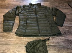 NWOT Womens Amazon Essentials Green Puffer Jacket Size Large